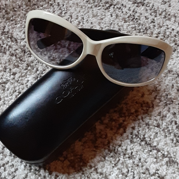 Coach ivory sunglasses, preowned